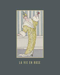 La vie en rose, Jugendstil-Modeplakat