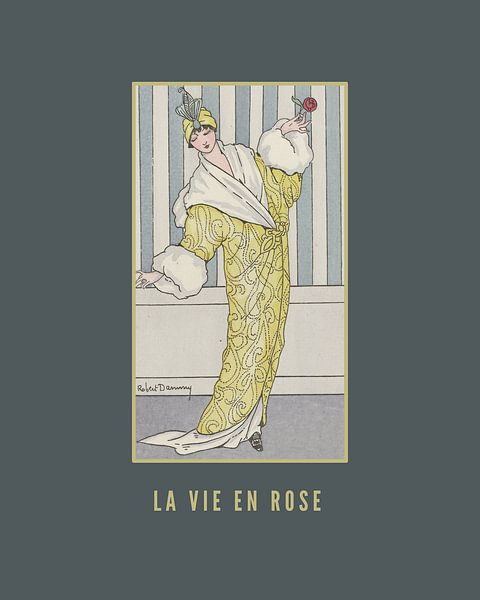 La vie en rose, Jugendstil-Modeplakat von NOONY