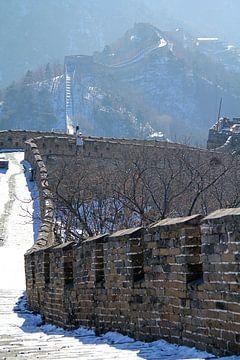Die Grosse Mauer von China, menschenleer und schneeweiss von Sarah Lugthart