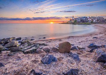 Sunset Urk van Erik Eenkhoorn
