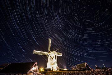 Mühle in der Nacht von Ralph Jaspers