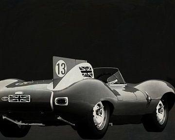 Jaguar Type D 1956 Achterzijde B&W van Jan Keteleer