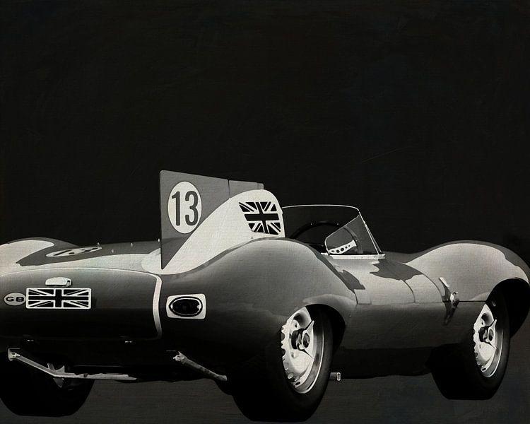 Jaguar Typ D 1956 Rückseite S/W von Jan Keteleer