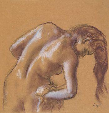 Nackte Frau beim Abtrocknen ihres Körpers, Edgar Degas (ca. 1892) von Atelier Liesjes