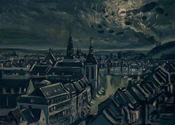 Maastricht au clair de lune du matin sur Nop Briex