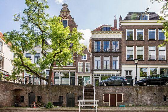 Huizen langs de Oudegracht