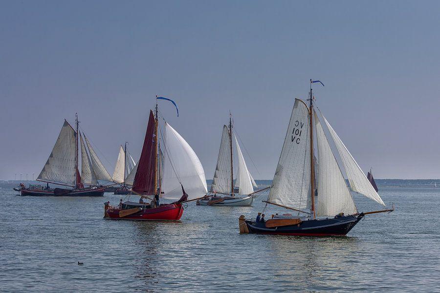 Zeilschepen op Haringvliet van Bram van Broekhoven