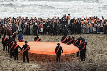 Landing Prins van Oranje op Scheveningen (2013) van Hans Brinkel