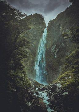 wasserfall neuseeland von Gwenn klabbers