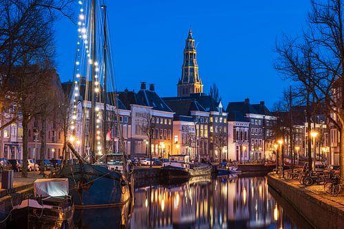Groningen tijdens de schemering