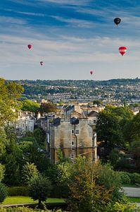 Ballonnen boven Bath van