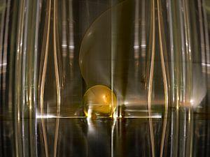 Gouden bal in riet van