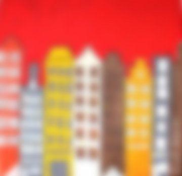 grachtenpanden, serie waas van Nicole Roozendaal