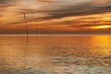 Zonsopkomst op de Waddenzee bij Texel van Ronald Timmer