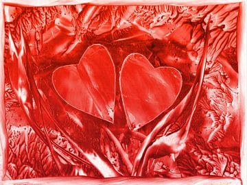 Herzensverbindung - rot van Katrin Behr