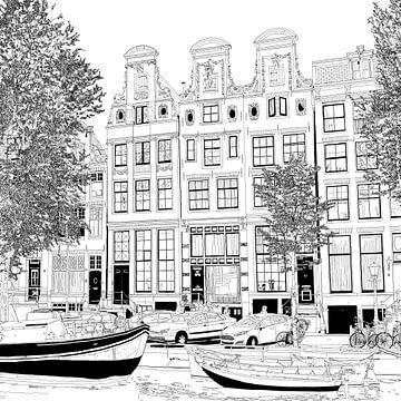 Zeichnung Herengracht 55-65 Amsterdam von Hendrik-Jan Kornelis