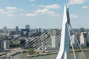 Rotterdam door het topje van de Erasmusbrug