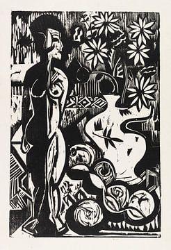 Stilleben mit Plastik, ERNST LUDWIG KIRCHNER, 1925 von Atelier Liesjes