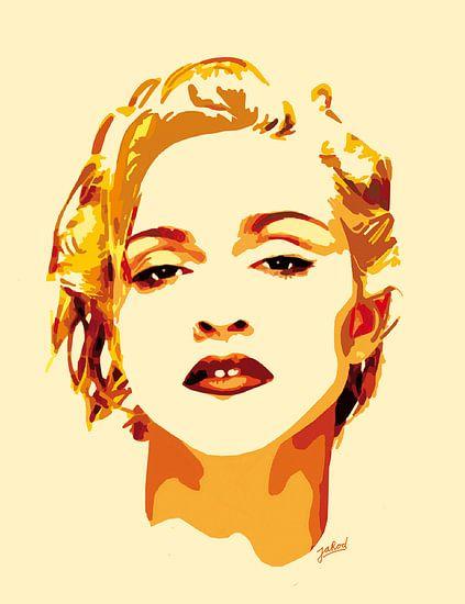 Golden Madonna van Jarod Digital Art