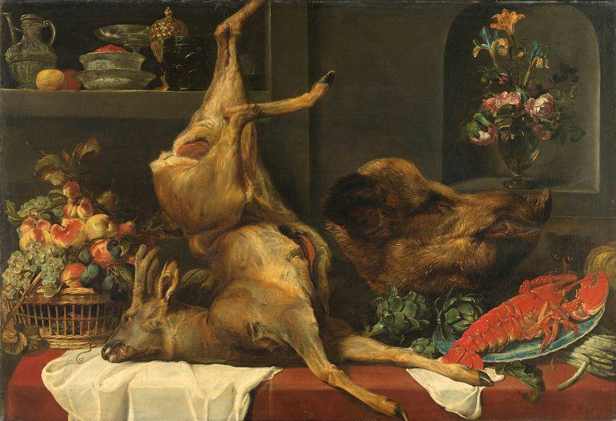 Frans Snijders, Stilleven met groot dood wild, vruchten en bloemen van Meesterlijcke Meesters