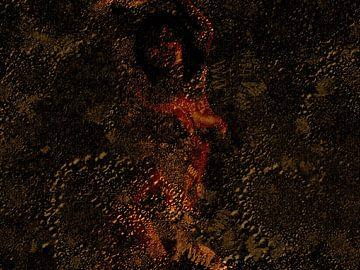 Abstract naakt portret vrouw van Maurice Dawson
