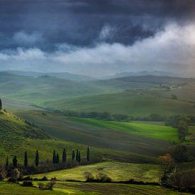 Toscane Villa Belvedere Italië Landschap Formaat van Peter Bolman