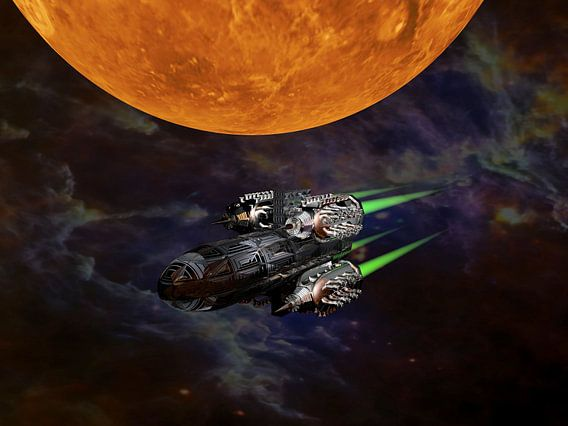 Science Fiction Ruimteschip van Digital Universe