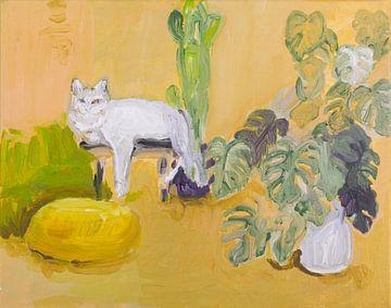 Stilleben mit Katze von artbykoelemij