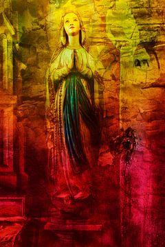 De engel achter Maria Magdalena van