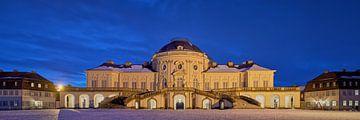 Schloss Solitude in Stuttgart während der Blauen Stunde von Keith Wilson Photography