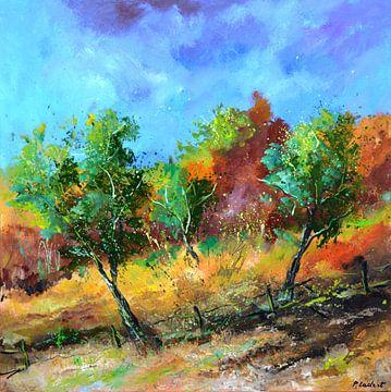 Obstgarten im Herbst von pol ledent