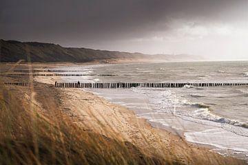Kustlijn Zoutelande van Thom Brouwer