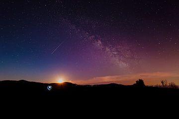 Atmosferische nacht in het Zwarte Woud van MindScape Photography