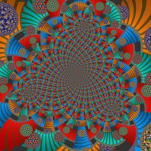 Triple Spiraal van Trappen en Cirkels