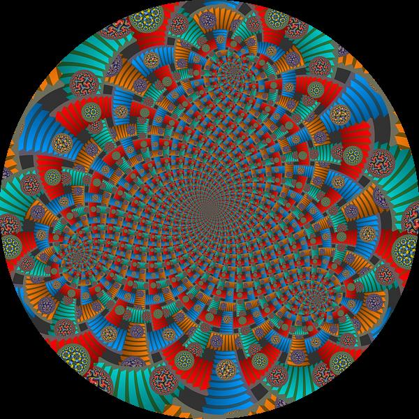 Triple Spiraal van Trappen en Cirkels van Tis Veugen