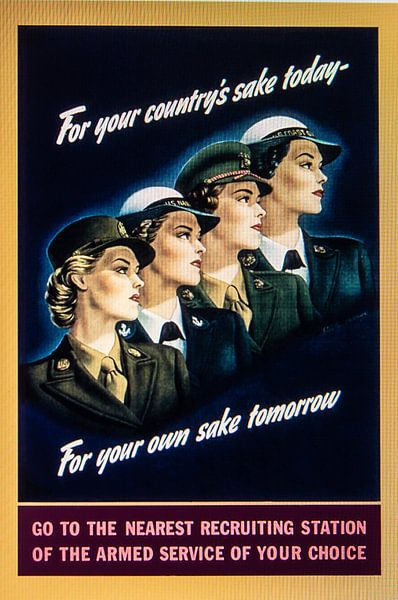 Recruitment Poster vrouwen. van Brian Morgan