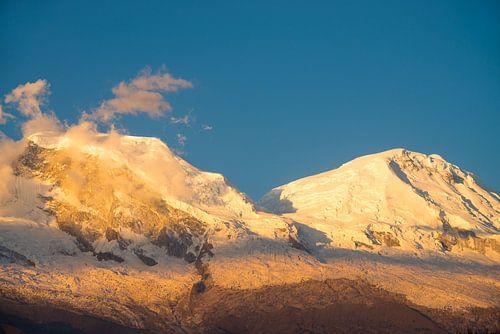 Huascarán tijdens zonsondergang