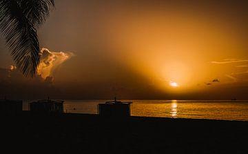 Zonsopkomst aan het tropische strand van Nynke Nicolai