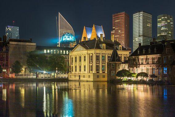 Skyline Den Haag met hofvijver