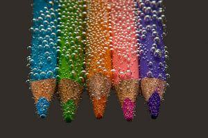 Buntstifte mit Bubbles