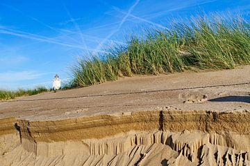 Vuurtoren duinen helmgras van Marcel Verheggen