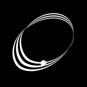 Möbius-Band mit Streifen und Kugel von Jörg Hausmann