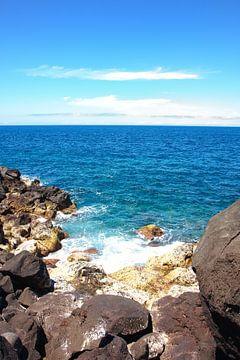 Lava-Felsen im Ozean von Jan Brons
