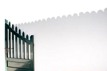 Schaduw spel door de poort van Pictorine