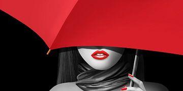 Rode lippen van Monika Jüngling
