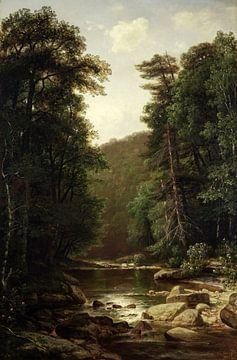 George Hetzel-Landschaft mit Fluss
