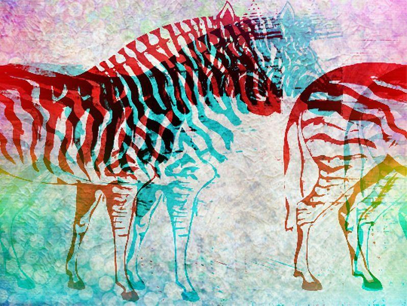 Zebra Schimmen   van Nicky`s Prints