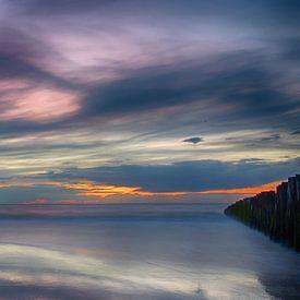Zonsondergang Opaalkust Wissant Frankrijk IV van Watze D. de Haan
