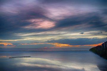 Zonsondergang Opaalkust Wissant Frankrijk IV van