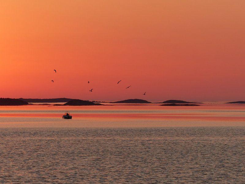 Zonsondergang Helgeland Noorwegen
